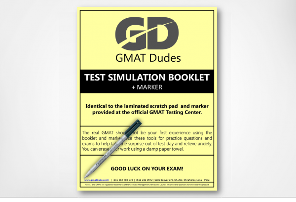 GMAT Simulation Booklet and Marker